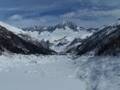 a malga Bissina con la neve