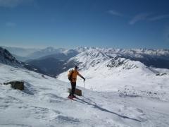 in val Varadega con la neve