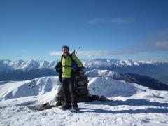 su cima Cadì (con neve)