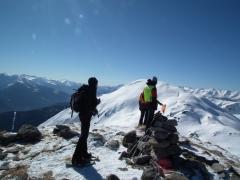 su cima Verda con la neve